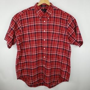 Nautica Mens Size XXL Plaid Button Down